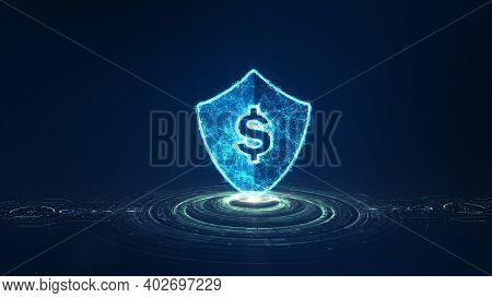 Fintech Concept. Financial Technology And Digital Money. Financial Technology Online Banking. Busine