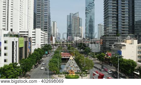 Bangkok, Thailand - 13 July, 2019: Mahanakhon King Power Skyscraper In Modern Sathorn Financial Busi