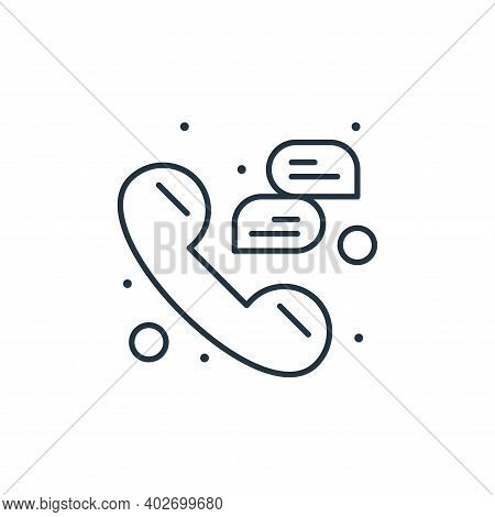 phone call icon isolated on white background. phone call icon thin line outline linear phone call sy