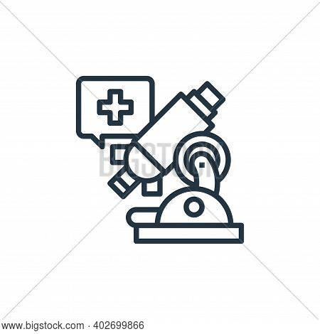 microscope icon isolated on white background. microscope icon thin line outline linear microscope sy