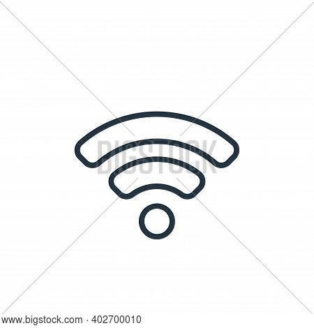 wifi signal icon isolated on white background. wifi signal icon thin line outline linear wifi signal