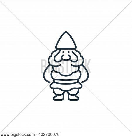 Dwarf icon isolated on white background. Dwarf icon thin line outline linear Dwarf symbol for logo,