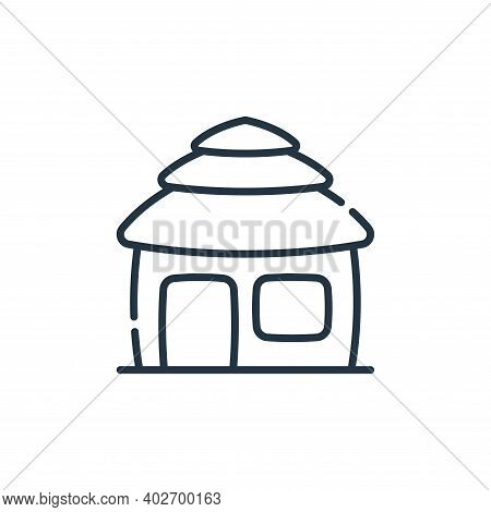 hut icon isolated on white background. hut icon thin line outline linear hut symbol for logo, web, a