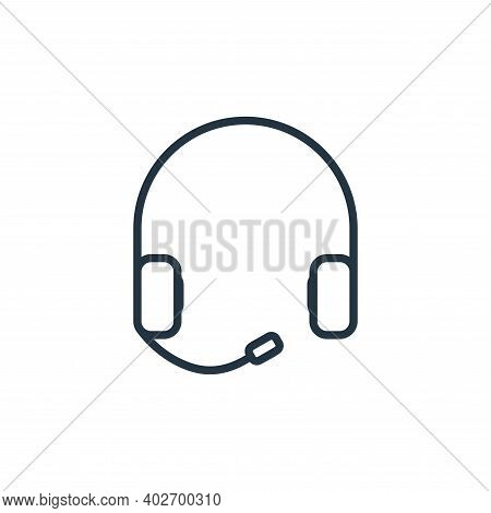 earphone icon isolated on white background. earphone icon thin line outline linear earphone symbol f