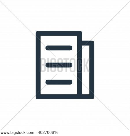 file icon isolated on white background. file icon thin line outline linear file symbol for logo, web