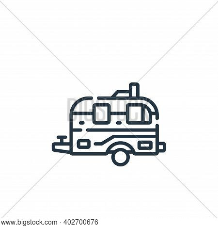 campervan icon isolated on white background. campervan icon thin line outline linear campervan symbo