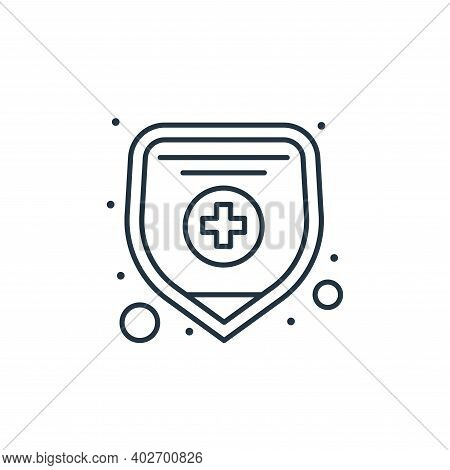 health insurance icon isolated on white background. health insurance icon thin line outline linear h