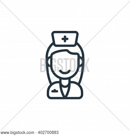 nurse icon isolated on white background. nurse icon thin line outline linear nurse symbol for logo,