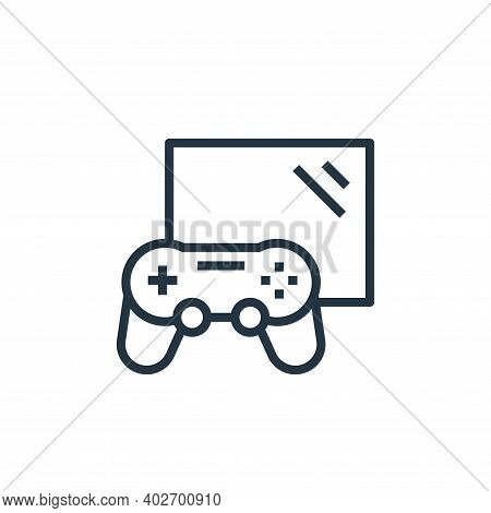 gaming icon isolated on white background. gaming icon thin line outline linear gaming symbol for log