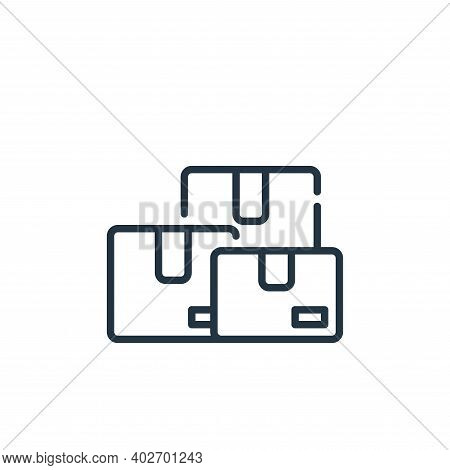 parcel icon isolated on white background. parcel icon thin line outline linear parcel symbol for log