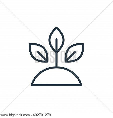 sprout icon isolated on white background. sprout icon thin line outline linear sprout symbol for log