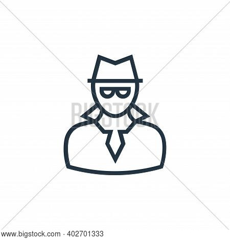 Spy Vector Icon Isolated On White Background.