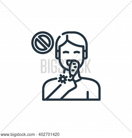 no eating icon isolated on white background. no eating icon thin line outline linear no eating symbo