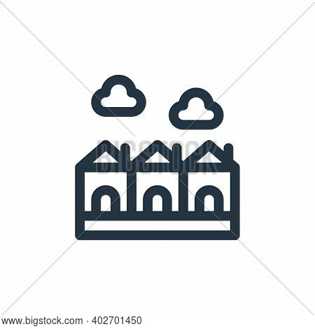 houses icon isolated on white background. houses icon thin line outline linear houses symbol for log