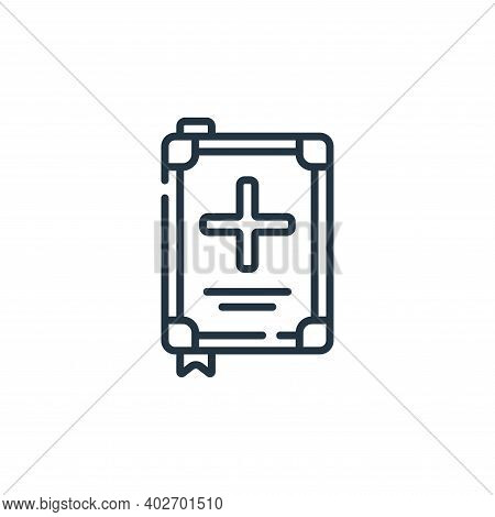 medical check icon isolated on white background. medical check icon thin line outline linear medical