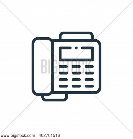 fax icon isolated on white background. fax icon thin line outline linear fax symbol for logo, web, a