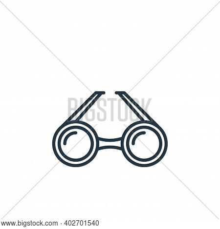 circular eyeglasses icon isolated on white background. circular eyeglasses icon thin line outline li