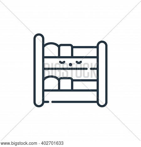 bunk bed icon isolated on white background. bunk bed icon thin line outline linear bunk bed symbol f