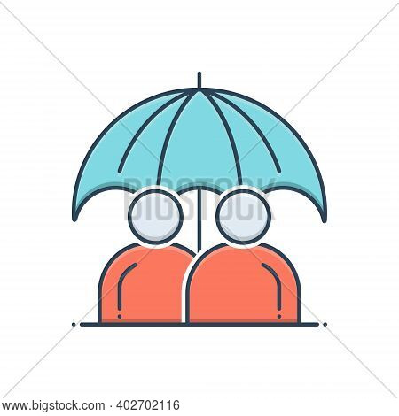 Color Illustration Icon For Permanent-life-insurance Permanent Life Insurance Policy Long-term