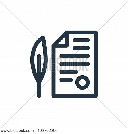 document icon isolated on white background. document icon thin line outline linear document symbol f