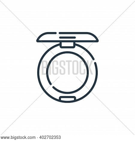 powder icon isolated on white background. powder icon thin line outline linear powder symbol for log