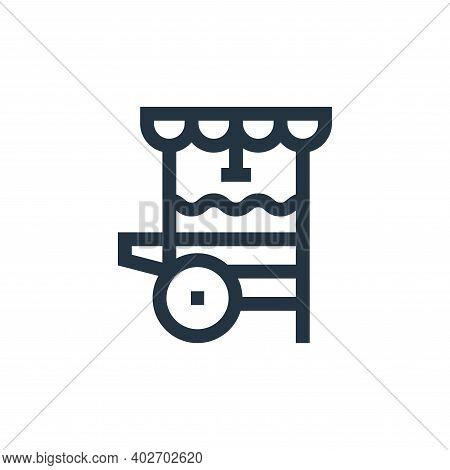 popcorn cart icon isolated on white background. popcorn cart icon thin line outline linear popcorn c