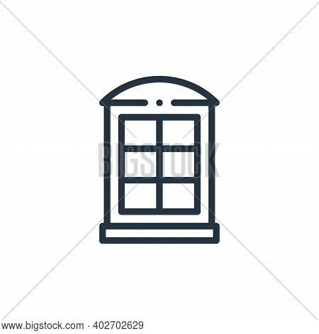 phone booth icon isolated on white background. phone booth icon thin line outline linear phone booth