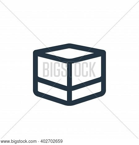box icon isolated on white background. box icon thin line outline linear box symbol for logo, web, a