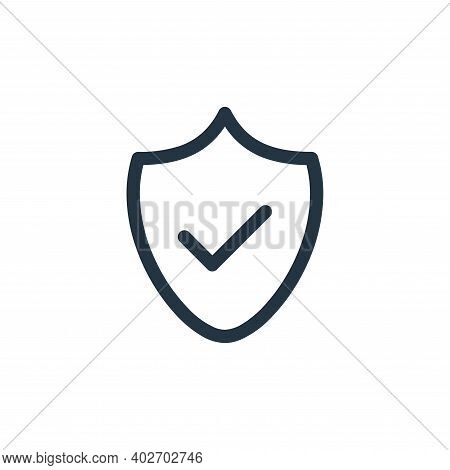 secure icon isolated on white background. secure icon thin line outline linear secure symbol for log