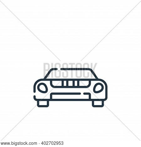 sport car icon isolated on white background. sport car icon thin line outline linear sport car symbo