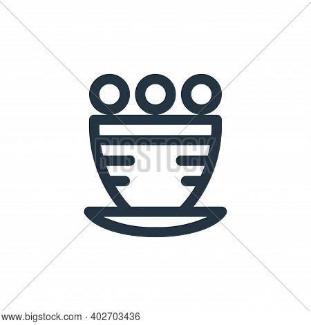flower pot icon isolated on white background. flower pot icon thin line outline linear flower pot sy