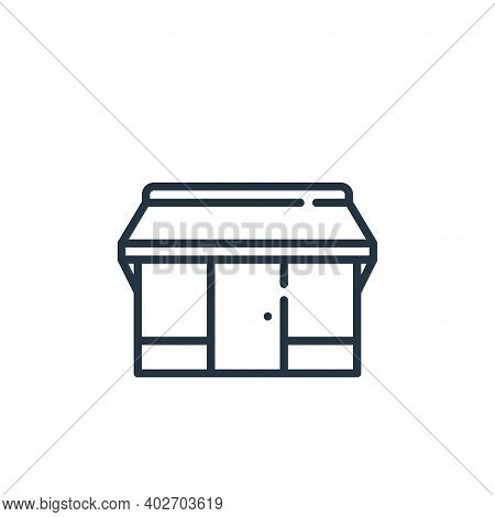 cafe icon isolated on white background. cafe icon thin line outline linear cafe symbol for logo, web