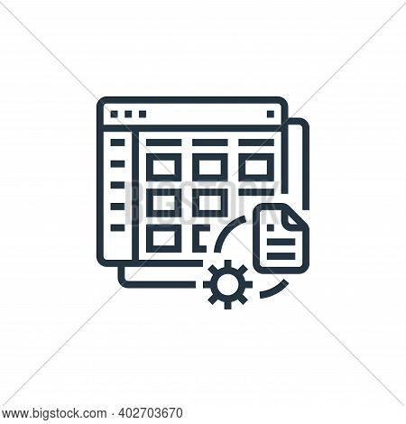 management icon isolated on white background. management icon thin line outline linear management sy