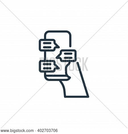 chatting icon isolated on white background. chatting icon thin line outline linear chatting symbol f