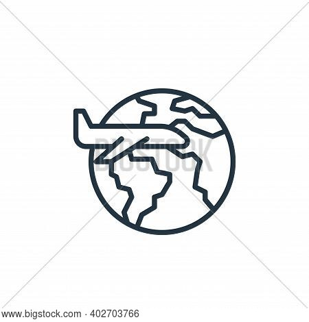 travel icon isolated on white background. travel icon thin line outline linear travel symbol for log