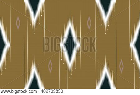 Abstract Geometric Yellow And Green Native Pattern Seamless Vector.repeating Geometric Background.mo