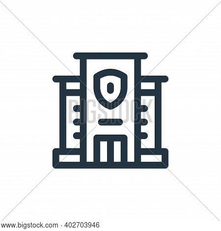 police station icon isolated on white background. police station icon thin line outline linear polic