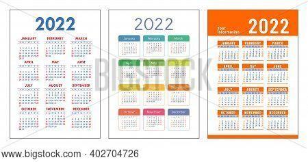 March April May 2022 Calendar.Calendar 2022 Year Vector Photo Free Trial Bigstock