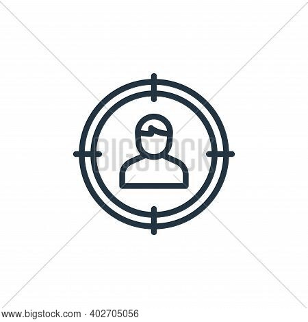client icon isolated on white background. client icon thin line outline linear client symbol for log