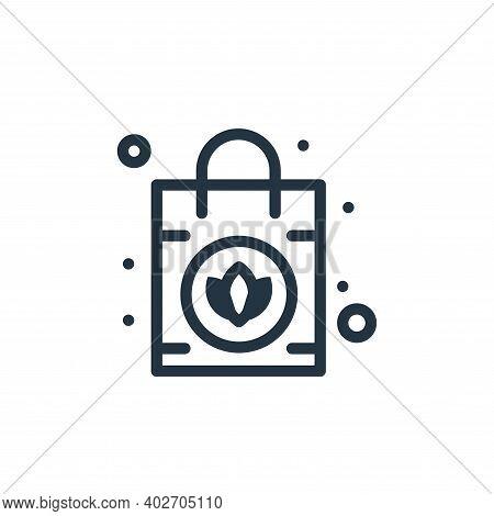 handbag icon isolated on white background. handbag icon thin line outline linear handbag symbol for