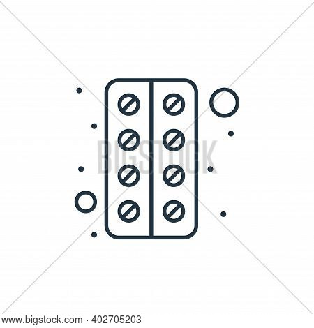 pills icon isolated on white background. pills icon thin line outline linear pills symbol for logo,