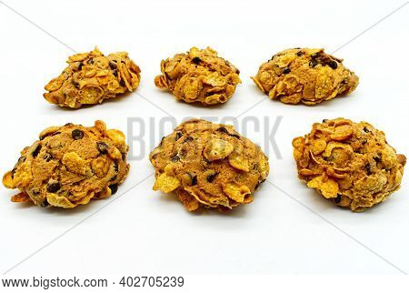 Rose Del Deserto (desert Roses Biscuits). Raisin Biscuits Covered With Corn Flakes