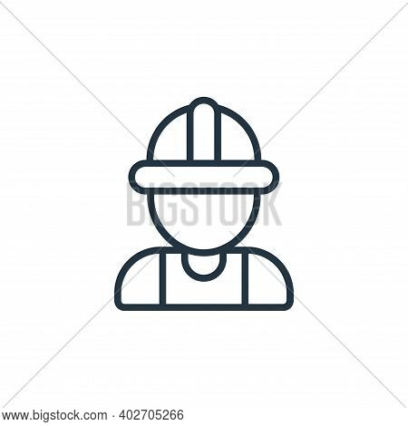 construction worker icon isolated on white background. construction worker icon thin line outline li