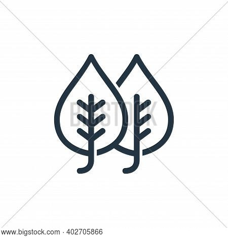 plant leaf icon isolated on white background. plant leaf icon thin line outline linear plant leaf sy