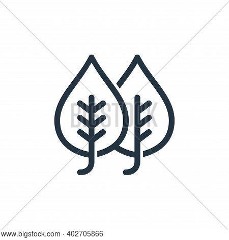 plant leaf icon isolated on white background. plant leaf icon thin line outline linear plant leaf sy