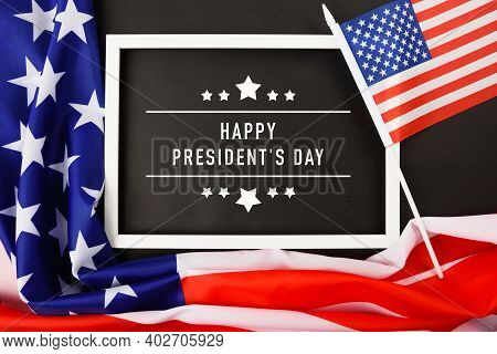 United States National Holidays. American Or Usa Flag With