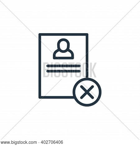 resume icon isolated on white background. resume icon thin line outline linear resume symbol for log