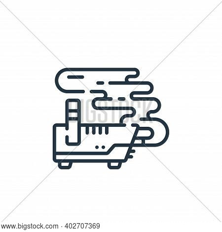 smoke machine icon isolated on white background. smoke machine icon thin line outline linear smoke m