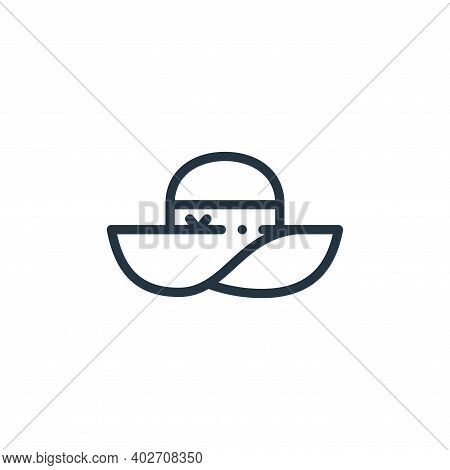 pamela hat icon isolated on white background. pamela hat icon thin line outline linear pamela hat sy