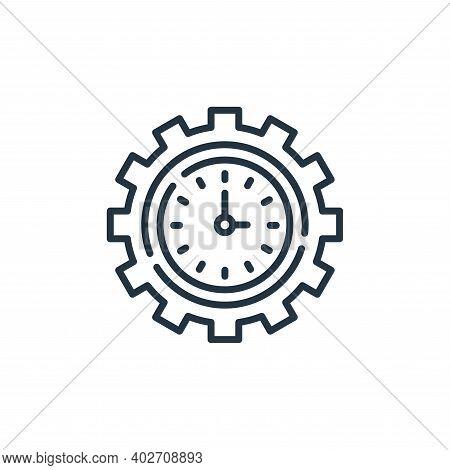 productivity icon isolated on white background. productivity icon thin line outline linear productiv